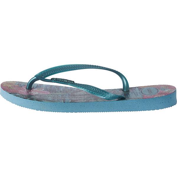 Pantoletten havaianas Tropical blau Slim kombi qxYCfw