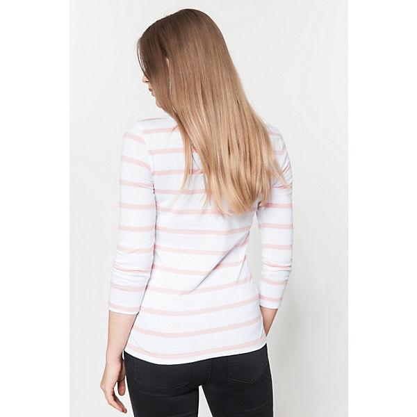 3 4 weiß Shirt Arm VILA rosa P8vw60