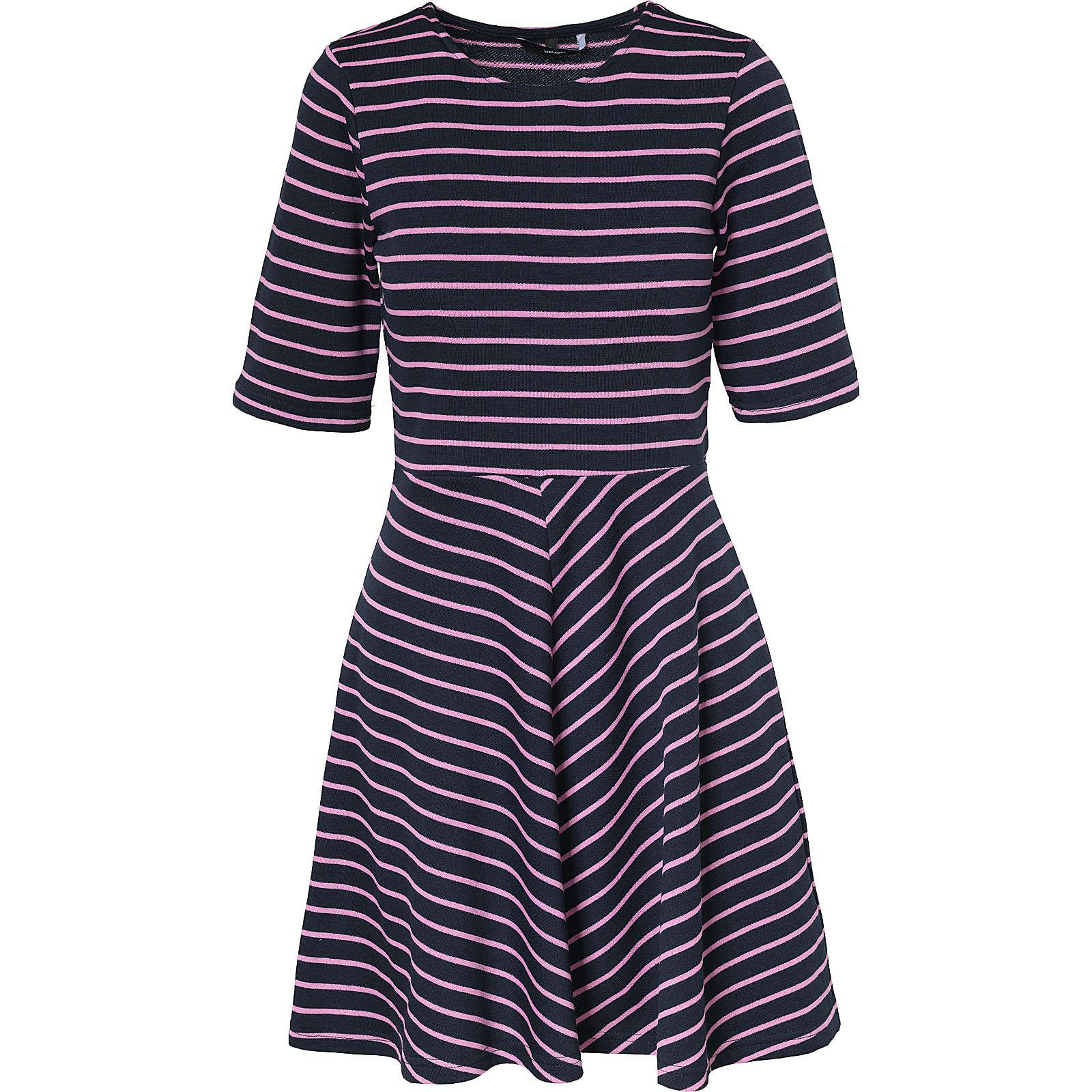 VERO MODA VMULA 2/4 SHORT DRESS A - Kleider* - weiblich pink/blau Damen Gr. 36