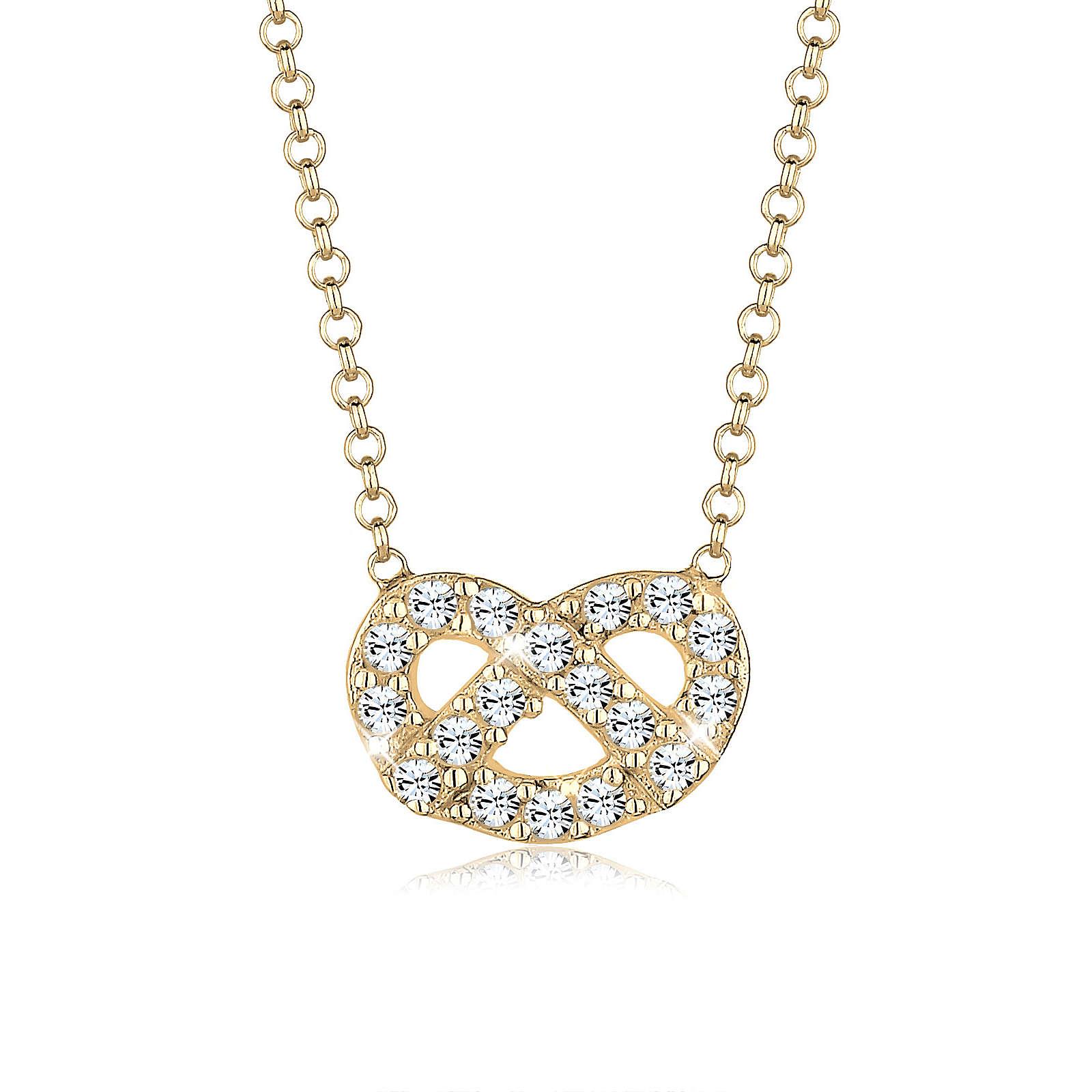Elli Halskette Brezel Wiesn Swarovski® Kristall...