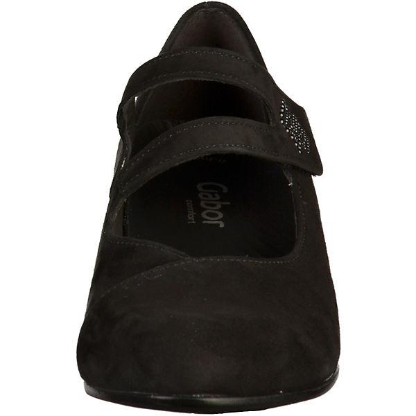 Gabor, Spangenpumps, schwarz Qualität  Gute Qualität schwarz beliebte Schuhe 289f56
