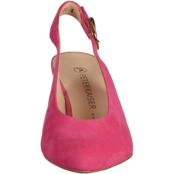 PETER KAISER, Sling-Pumps, pink beliebte  Gute Qualität beliebte pink Schuhe 173cf7