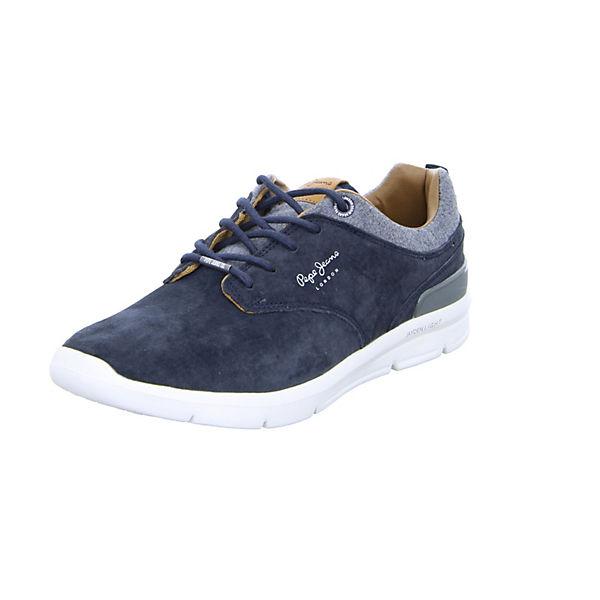 Pepe Jeans Sneakers Low Jayden Suede blau