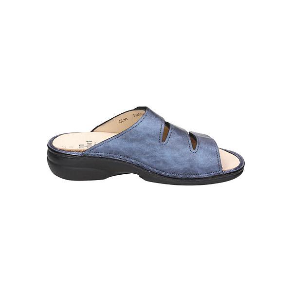 Finn Comfort, Komfort-Pantoletten, blau beliebte  Gute Qualität beliebte blau Schuhe 43db18