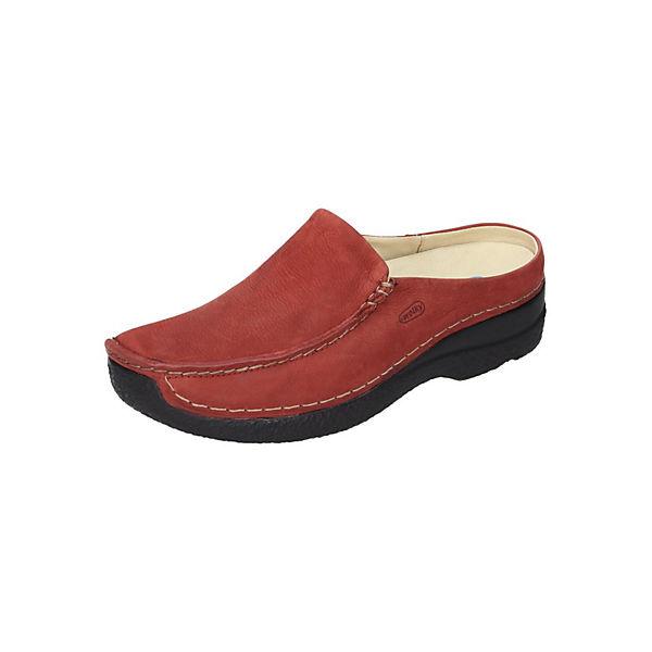 Wolky Komfort-Pantoletten rot