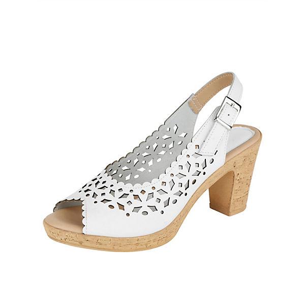 KLiNGEL Klassische Sandaletten weiß