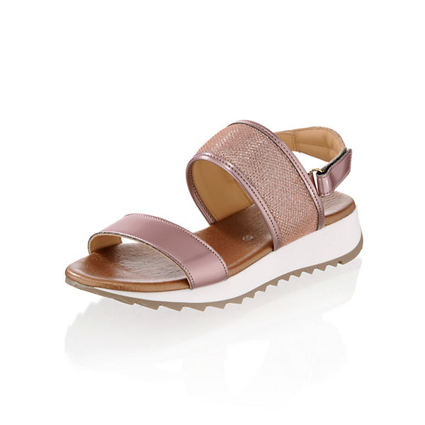 Alba Moda Klassische Sandalen rosa