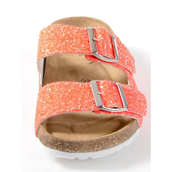 Alba Moda, Pantoletten, orange