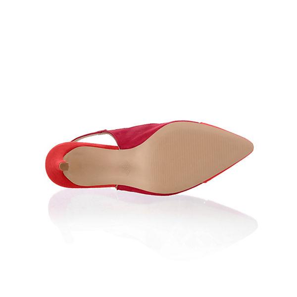 Alba Moda, Sling-Pumps, Qualität rot-kombi  Gute Qualität Sling-Pumps, beliebte Schuhe 47635c