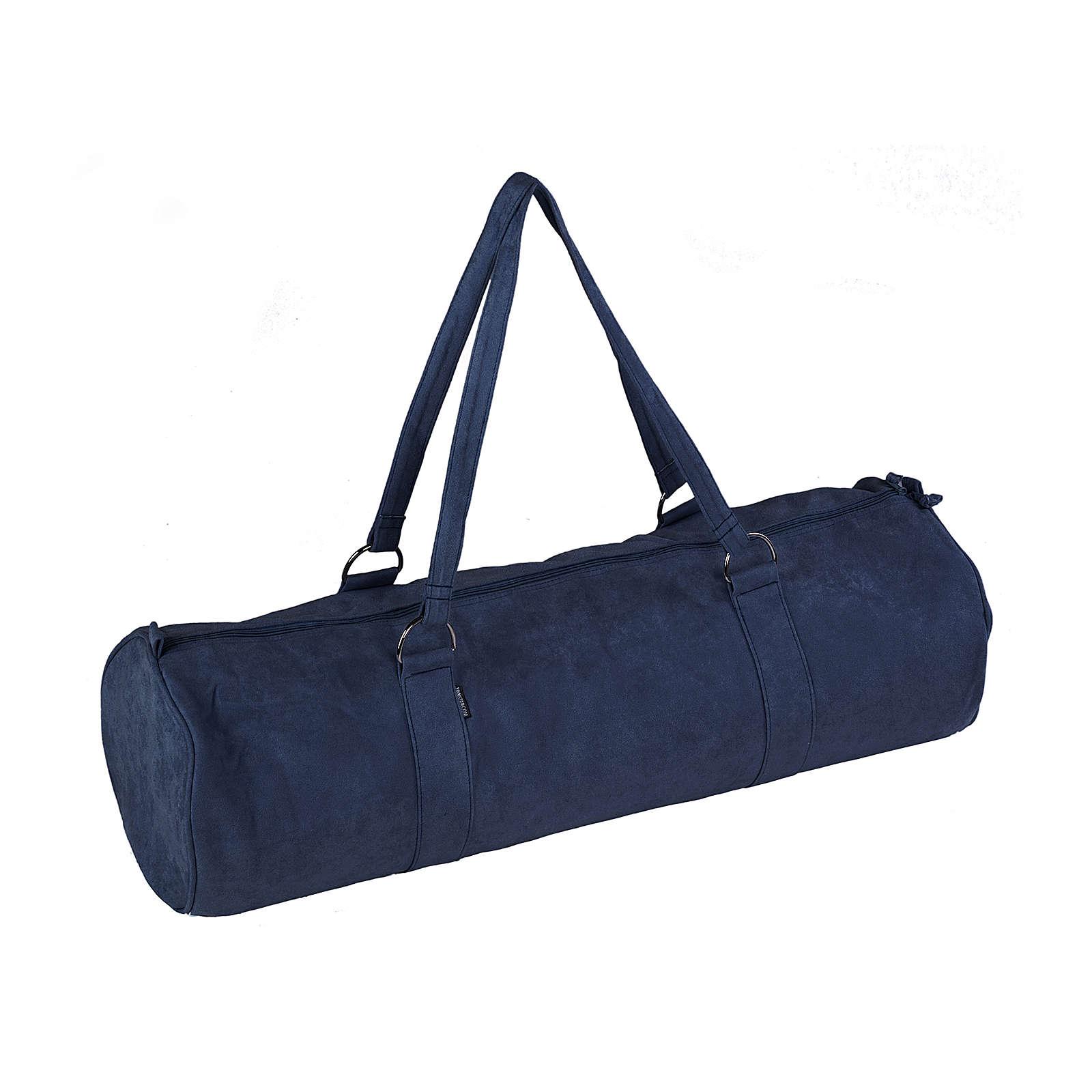 Yogistar Yogatasche style - zip extra big velour 80 cm dunkelblau
