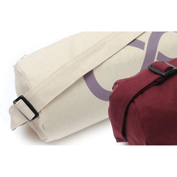 Yogistar Yogatasche basic - zip - cotton - art collection - 65 cm grau