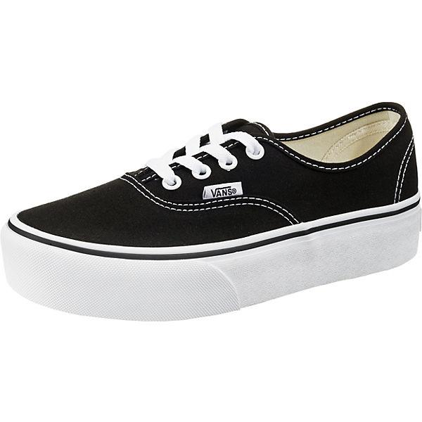 Plateau UA Authentic schwarz Sneakers VANS vSB1wEwq