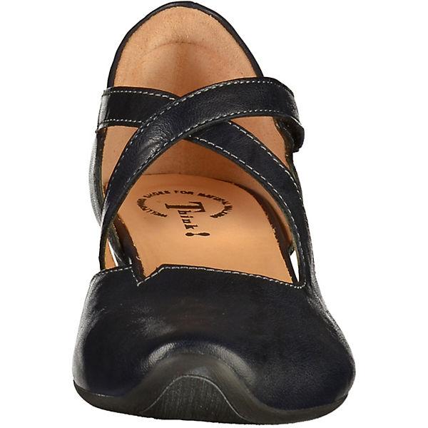 Think!, Qualität Spangenpumps, dunkelblau  Gute Qualität Think!, beliebte Schuhe 98255b