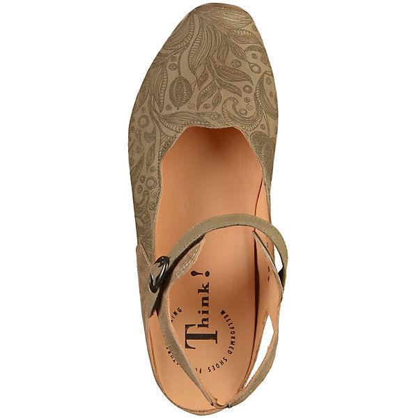 Think!, Spangenpumps, beige beige beige  Gute Qualität beliebte Schuhe 42a68b