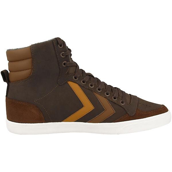 hummel Sneakers High Slimmer Stadil Duo Oiled braun
