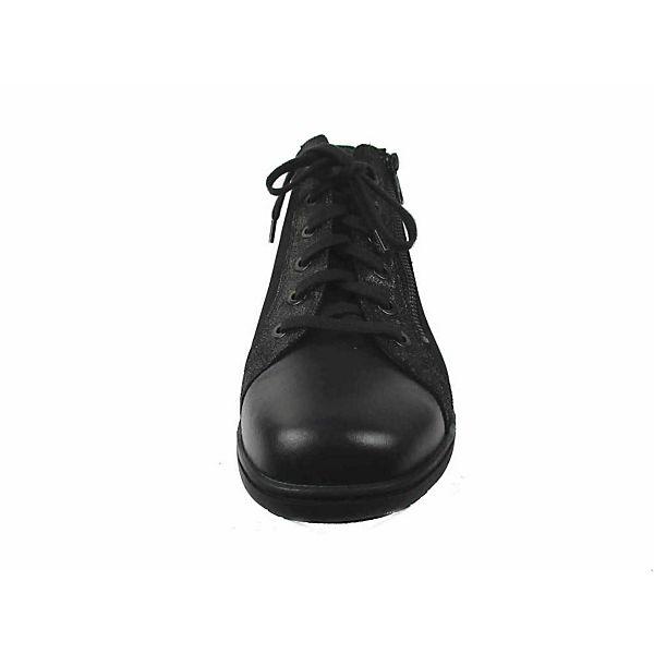 Solidus, Schnürstiefeletten, schwarz schwarz schwarz   edbc4a
