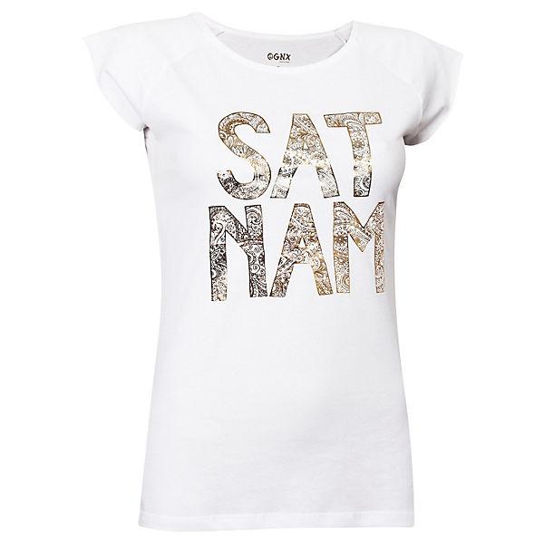 OGNX Yoga T-Shirts Kundalini Sat Nam weiß