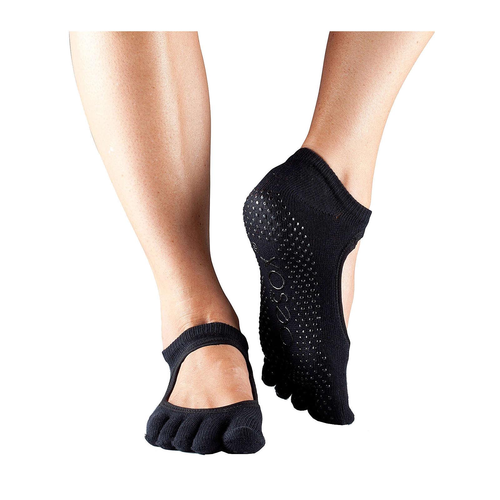 Toe Sox Yoga Socken BELLARINA schwarz Damen Gr. 38