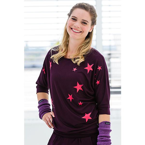 Yogistar Yoga Langarmshirts Batwing lila