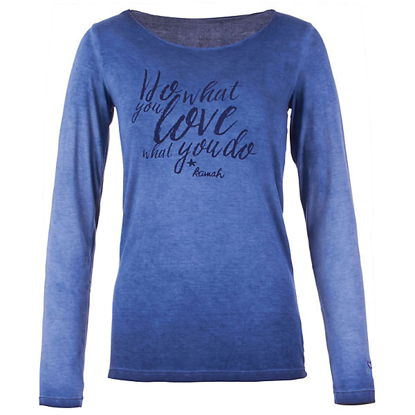 Kamah Yoga Langarmshirts Olga blau