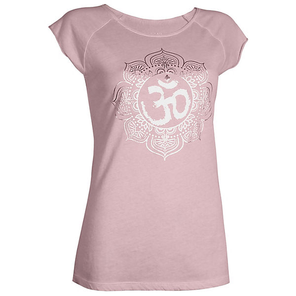 OGNX Yoga T-Shirts Pigment dyed OM pink