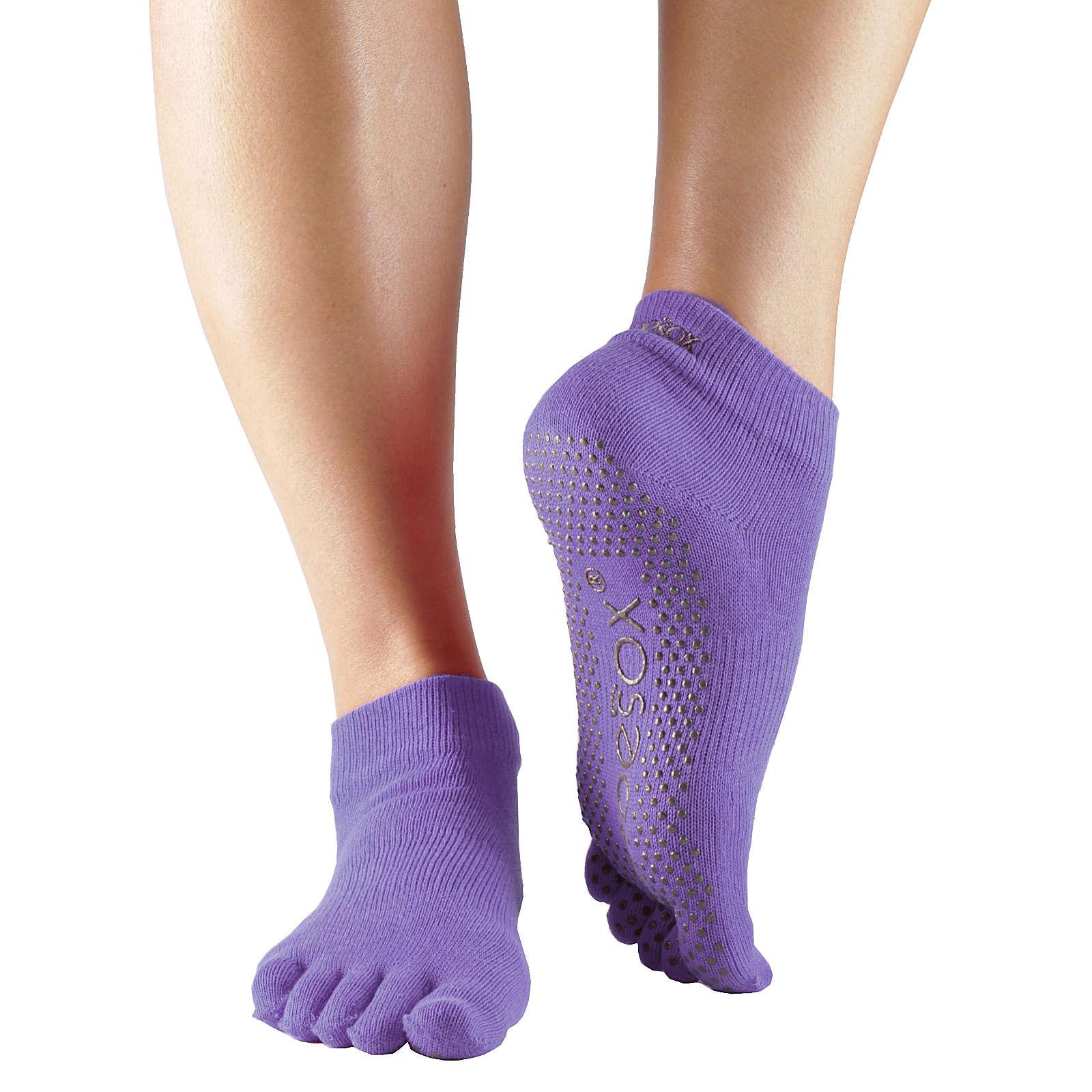 Toe Sox Yoga Socken ANKLE lila Damen Gr. 36