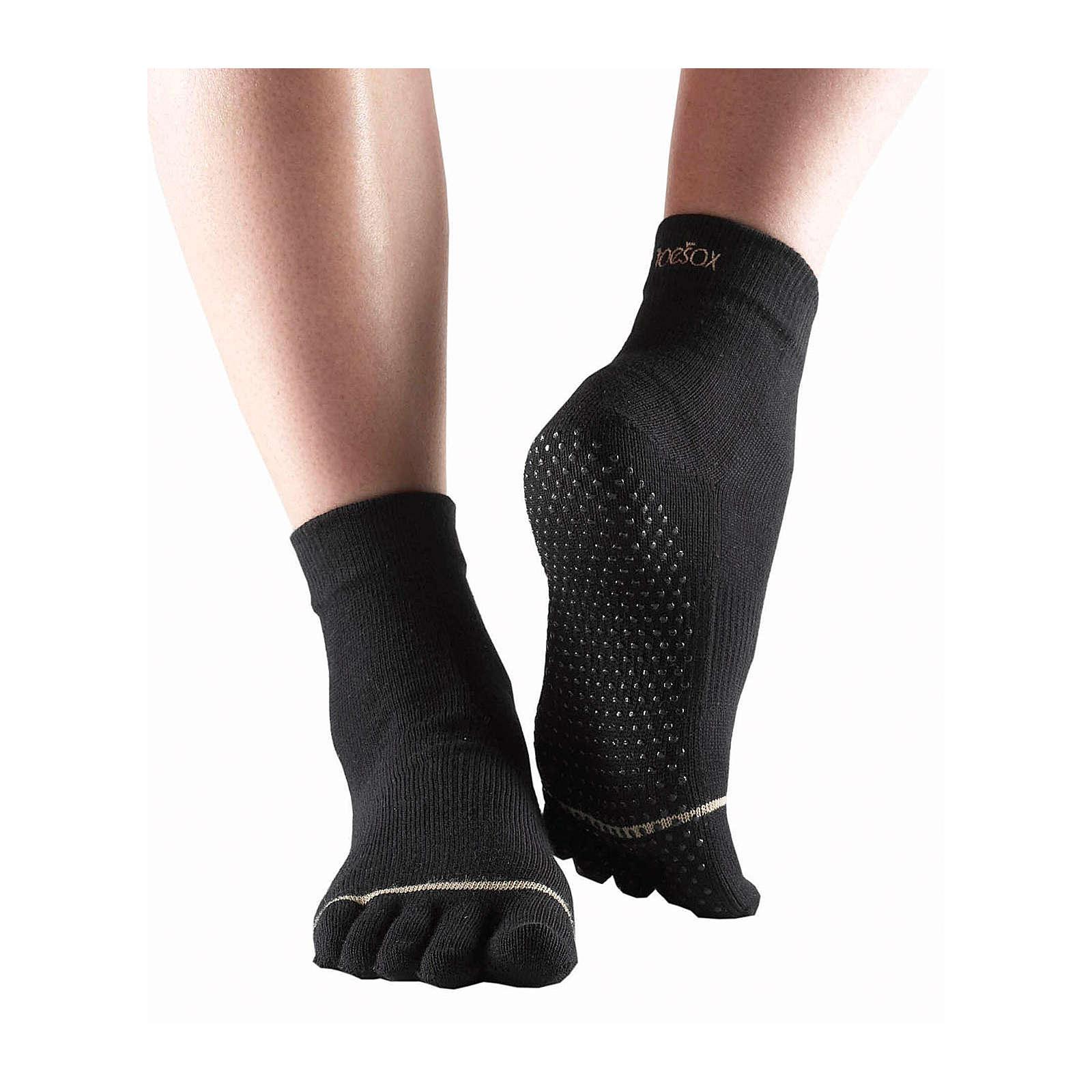Toe Sox Yoga Socken ANKLE schwarz Damen Gr. 38