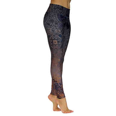 Yoga Hosen Black Rose