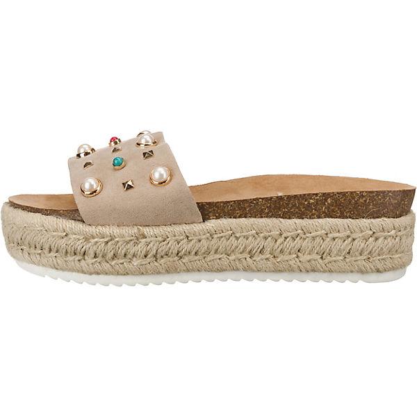 MTNG, Plateau-Pantoletten, beige  Gute Schuhe Qualität beliebte Schuhe Gute eb69f6