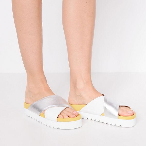 Liebeskind Berlin Plateau-Pantoletten silber-kombi  Gute Qualität beliebte Schuhe