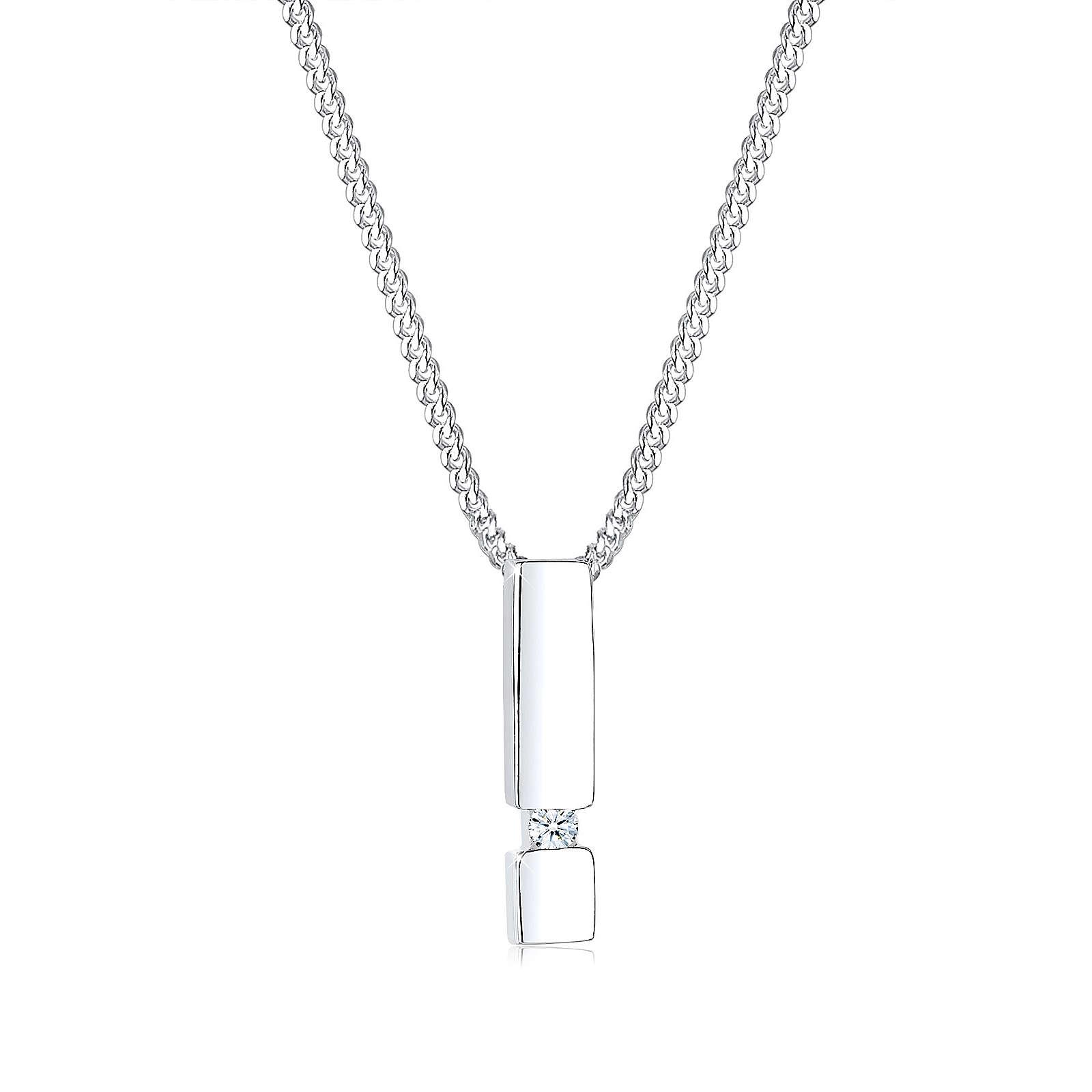 Diamore Halskette Stab Diamant 925 Sterling Silber Damen Gr. one size
