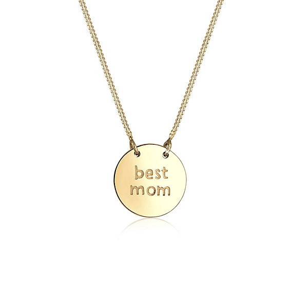 Halskette Wording Muttertag Best Mom 925 Sterling Silber