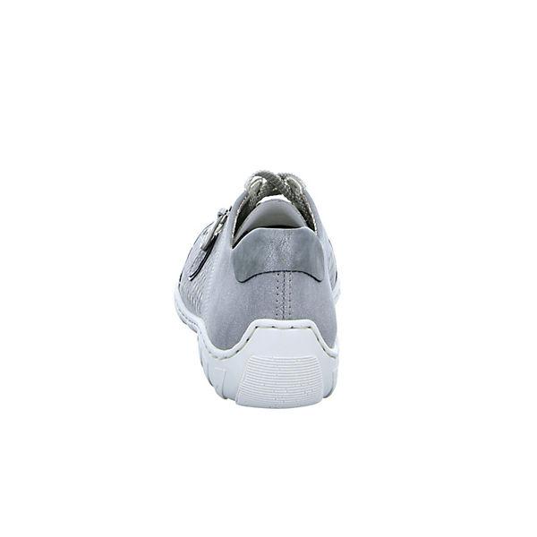 rieker Schnürschuhe M3705 M3705 rieker grau wXfnY