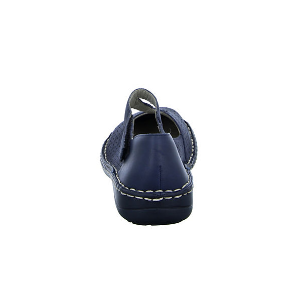 rieker 49893 Riemchenballerinas blau