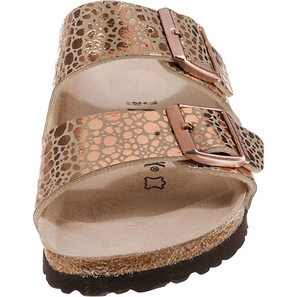 BIRKENSTOCK, Arizona schmal rosegold Komfort-Pantoletten, rosegold schmal   a434c9
