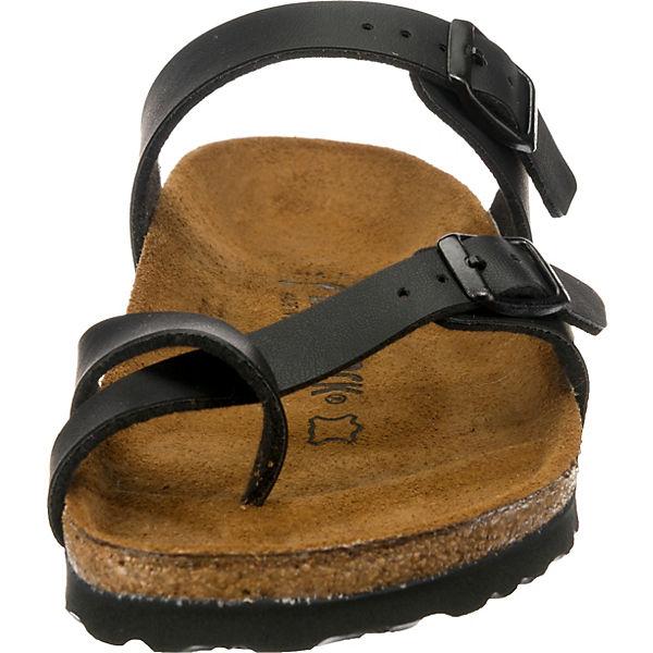 BIRKENSTOCK, Mayari schmal Komfort-Pantoletten,  schwarz  Komfort-Pantoletten,  ab75ff