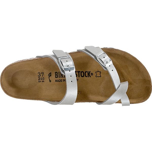 BIRKENSTOCK, Mayari schmal Komfort-Sandalen,  silber  Komfort-Sandalen,  9d3222
