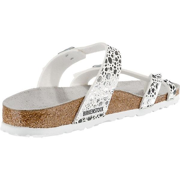 BIRKENSTOCK,  Mayari schmal Komfort-Pantoletten, silber  BIRKENSTOCK, Gute Qualität beliebte Schuhe 2a099e