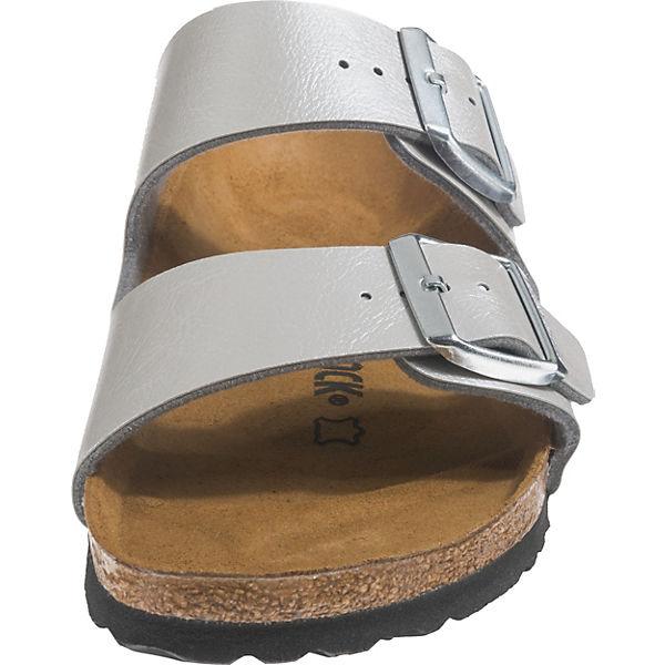 pantoletten Arizona Birkenstock Birkenstock Komfort Silber f76Ybgy