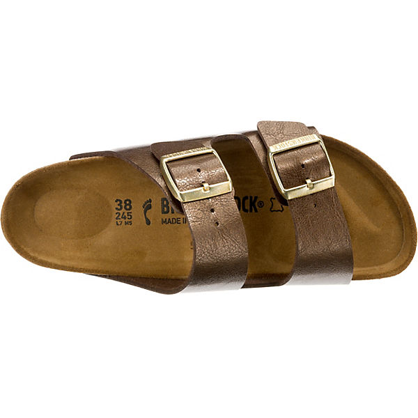 BIRKENSTOCK, Arizona schmal braun Komfort-Pantoletten, braun schmal   434792