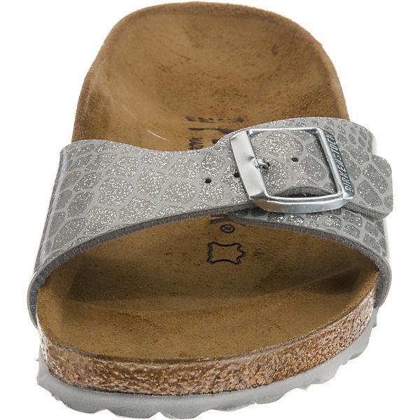 BIRKENSTOCK Madrid schmal Komfort-Pantoletten beliebte silber  Gute Qualität beliebte Komfort-Pantoletten Schuhe 4cee57