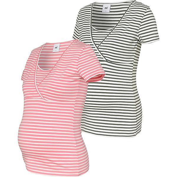 f000b0a1d83f MLLEA ORGANIC TESS Y/D S/S TOP NF 2 - Umstandsshirts - weiblich. mamalicious