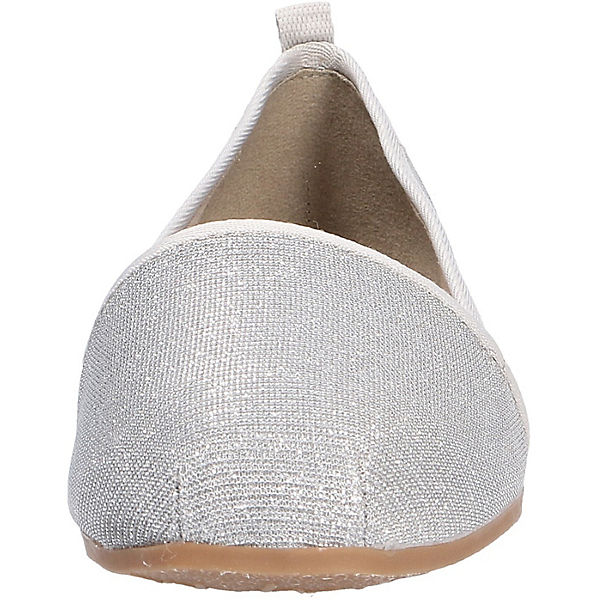 Tamaris Klassische Slipper silber
