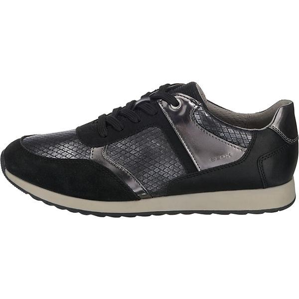 GEOX, D DEYNNA Sneakers beliebte Low, schwarz  Gute Qualität beliebte Sneakers Schuhe d24612