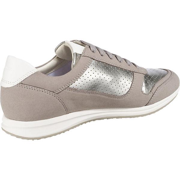 GEOX, GEOX, GEOX, D AVERY Sneakers Low, silber-kombi  Gute Qualität beliebte Schuhe 675a3b