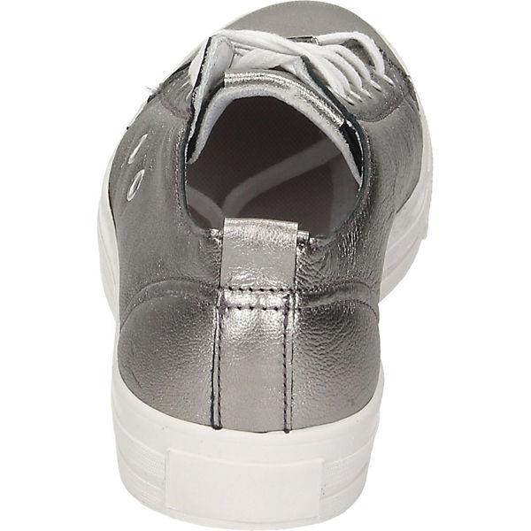 Black Sneakers Low silber