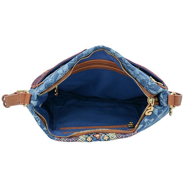 Desigual Baqueira Mystic Umhängetaschen blau