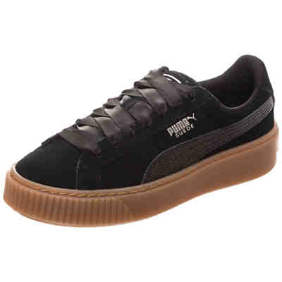 Suede Platform Bubble Sneakers Low