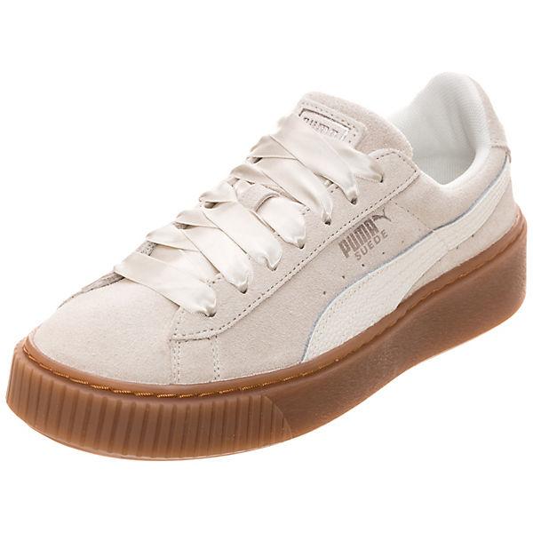 Suede Platform Sneakers Bubble PUMA Low hellgrau a8WqdB8Fnw