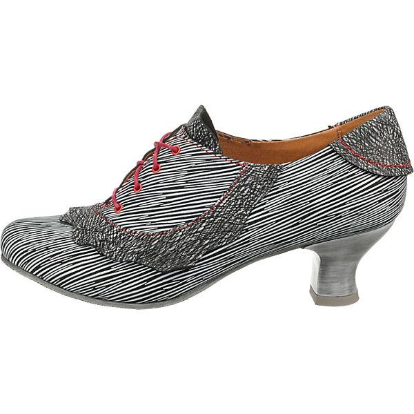 SIMEN, Schnürpumps, schwarz/weiß Qualität  Gute Qualität schwarz/weiß beliebte Schuhe 91c9bf